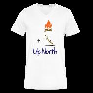 T-Shirts ~ Men's V-Neck T-Shirt by Canvas ~ Up North Math