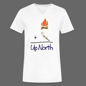 Up North Math - Men's V-Neck T-Shirt by Canvas