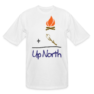 T-Shirts ~ Men's Tall T-Shirt ~ Up North Math