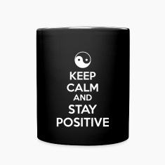 Keep Calm Ying Yang Mugs & Drinkware