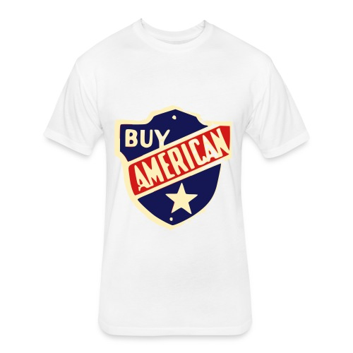 Buy American Sheild - Fitted Cotton/Poly T-Shirt by Next Level