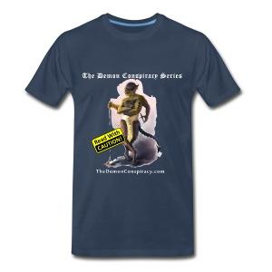 Men's 100% Cotton T-shirt - Navy - Men's Premium T-Shirt
