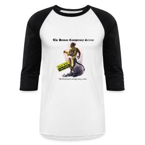 Men's Baseball Shirt - White/Black - Baseball T-Shirt
