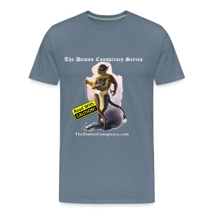 Men's 100% Cotton T-shirt - Steel Blue - Men's Premium T-Shirt