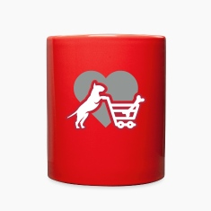 Shoppin´ Bull Terrier LUV Mugs & Drinkware