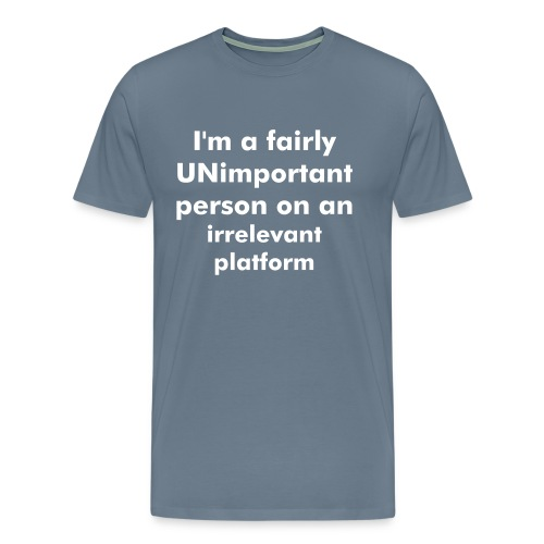 Unimportant Men's T-Shirt - Men's Premium T-Shirt