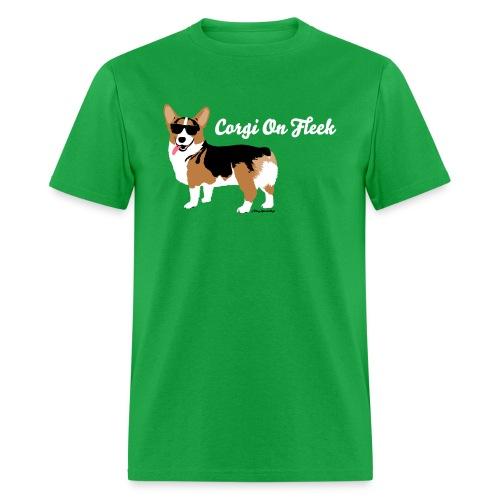 Men's Small Corgi Corgi On Fleek T-Shirt, Green - Men's T-Shirt