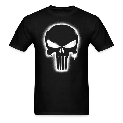 Night Punisher - white spray - Men's T-Shirt