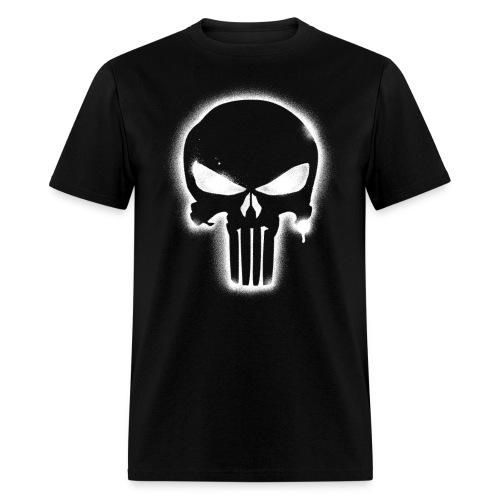 Night Punisher - white spray - Men's T-Shirt