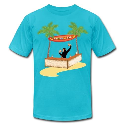 Monkey at a beach bar - Men's Fine Jersey T-Shirt