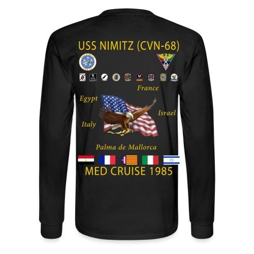 USS NIMITZ 1985 MED CRUISE SHIRT - LONG SLEEVE - Men's Long Sleeve T-Shirt