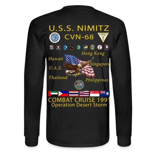 USS NIMITZ CVN-68 COMBAT CRUISE 1991 CRUISE SHIRT - LONG SLEEVE - Men's Long Sleeve T-Shirt