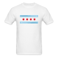 T-Shirts ~ Men's T-Shirt ~ Chicago Baseball Flag