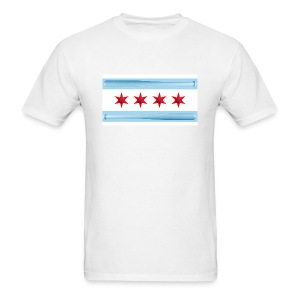 Chicago Baseball Flag - Men's T-Shirt