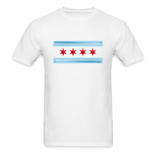 Chicago Baseball Flag - Men's T-Shirt