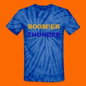 BOOM!ER THUNDER, Y'ALL KNOW - Unisex Tie Dye T-Shirt