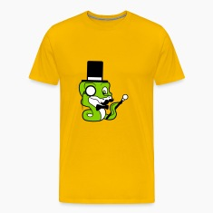 fly stock sir mr mustache mustache hat cylinder ge T-Shirts