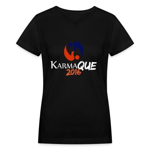 KarmaQue 2016 LE (v-neck) - Women's V-Neck T-Shirt