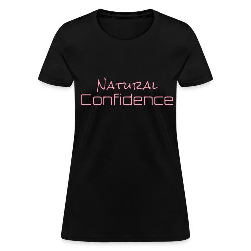 Natural Confidence Black Tee - Women's T-Shirt