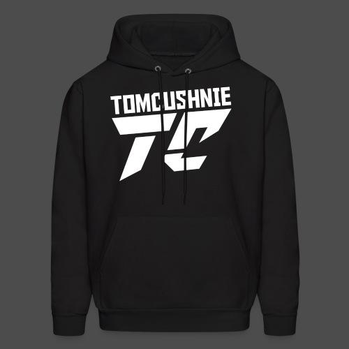 Tom Cushnie White Logo With Text - Men's Hoodie