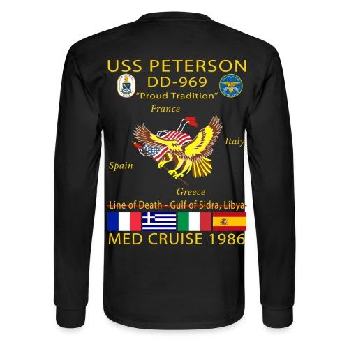 USS PETERSON 1986 CRUISE SHIRT - LONG SLEEVE - Men's Long Sleeve T-Shirt