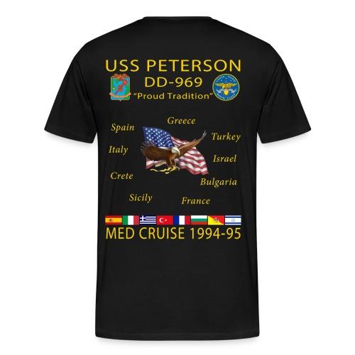 USS PETERSON 1994-95 CRUISE SHIRT  - Men's Premium T-Shirt