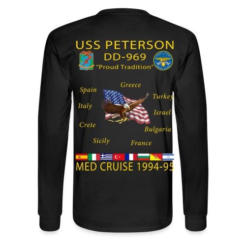 USS PETERSON 1994-95 CRUISE SHIRT - LONG SLEEVE - Men's Long Sleeve T-Shirt
