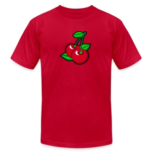 Red Cherries for cherry pickers - Men's T-Shirt by American Apparel