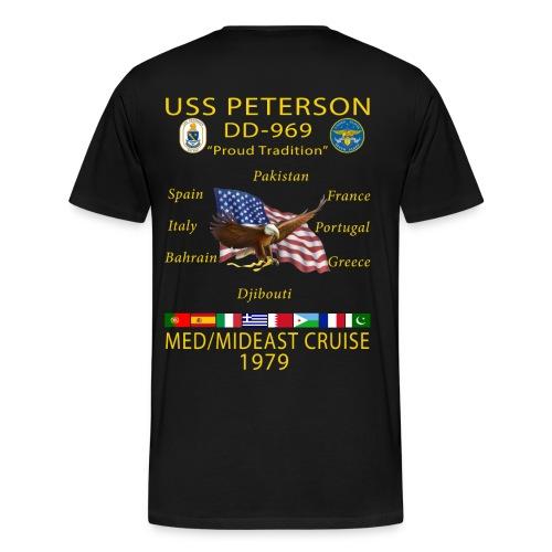 USS PETERSON 1979 CRUISE SHIRT  - Men's Premium T-Shirt
