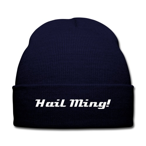 Hail Ming! Knit Cap with Cuff Print - Knit Cap with Cuff Print