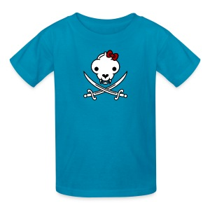 Jolly Kitty Pirate Skull and Bones - Kids' T-Shirt
