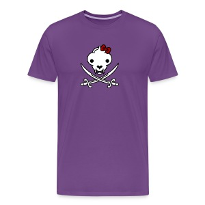 Jolly Kitty Pirate Skull and Bones - Men's Premium T-Shirt