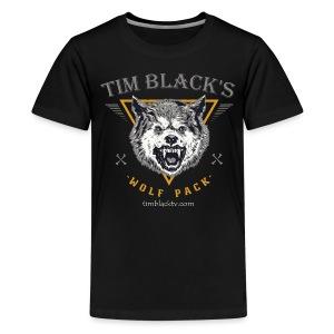 Tim Black's Wolf Pack Kids Tee - Kids' Premium T-Shirt