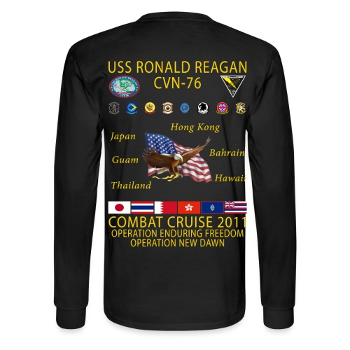 USS RONALD REAGAN 2011 CRUISE SHIRT - LONG SLEEVE - Men's Long Sleeve T-Shirt