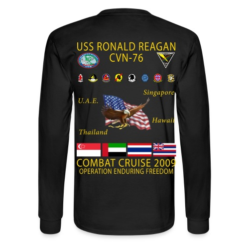 USS RONALD REAGAN 2009 CRUISE SHIRT - LONG SLEEVE - Men's Long Sleeve T-Shirt