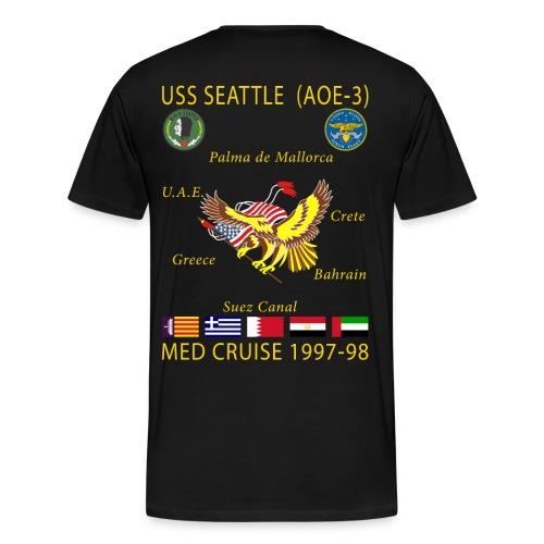 USS SEATTLE 1997-98 CRUISE SHIRT  - Men's Premium T-Shirt