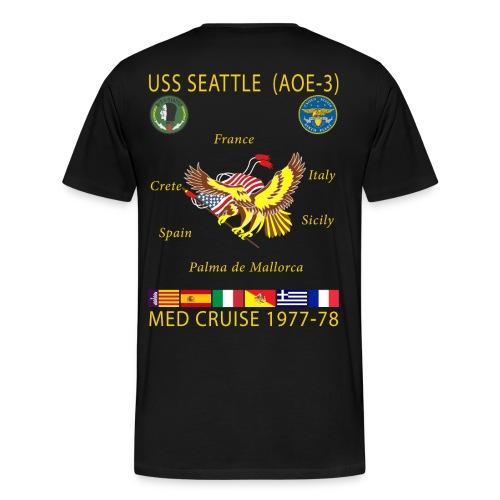 USS SEATTLE 1977-78 CRUISE SHIRT  - Men's Premium T-Shirt