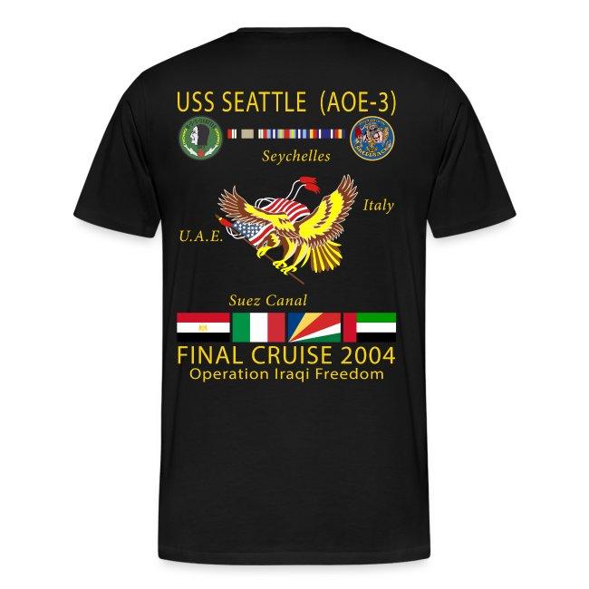 USS SEATTLE 2004 FINAL CRUISE SHIRT