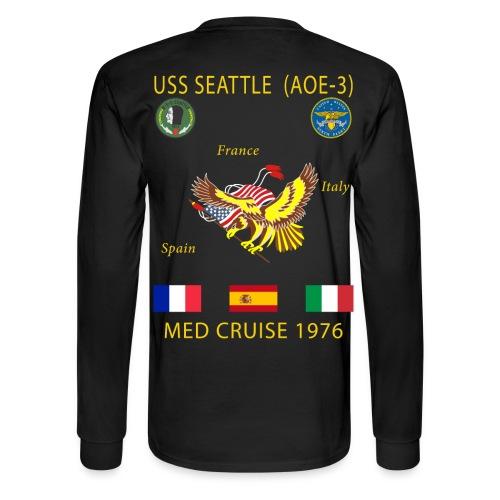 USS SEATTLE 1976 CRUISE SHIRT - LONG SLEEVE - Men's Long Sleeve T-Shirt