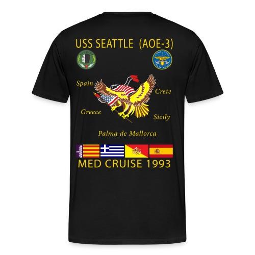 USS SEATTLE 1993 CRUISE SHIRT  - Men's Premium T-Shirt