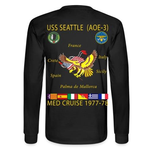 USS SEATTLE 1977-78 CRUISE SHIRT - LONG SLEEVE - Men's Long Sleeve T-Shirt