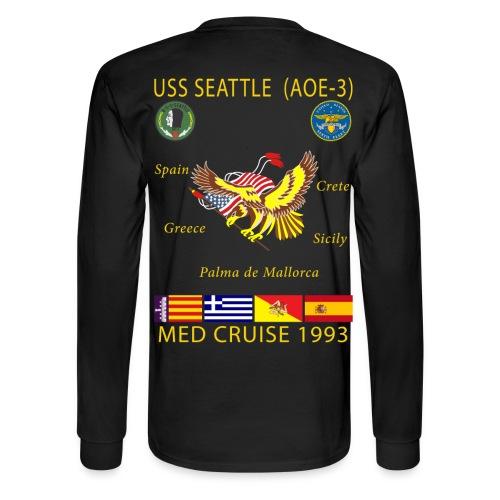 USS SEATTLE 1993 CRUISE SHIRT - LONG SLEEVE - Men's Long Sleeve T-Shirt