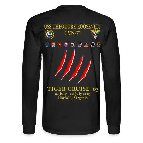 USS THEODORE ROOSEVELT 2003 TIGER CRUISE SHIRT - LONG SLEEVE - CLAW - Men's Long Sleeve T-Shirt