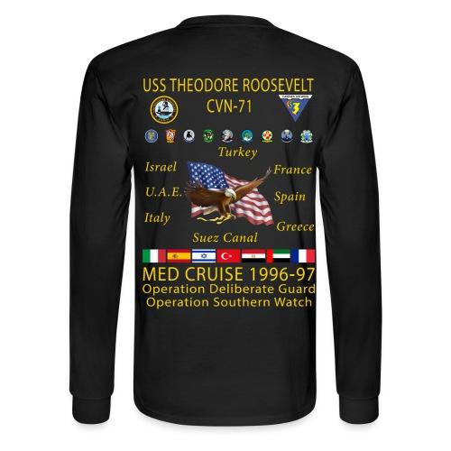 USS THEODORE ROOSEVELT CVN-71 1996-97 CRUISE SHIRT - LONG SLEEVE - Men's Long Sleeve T-Shirt