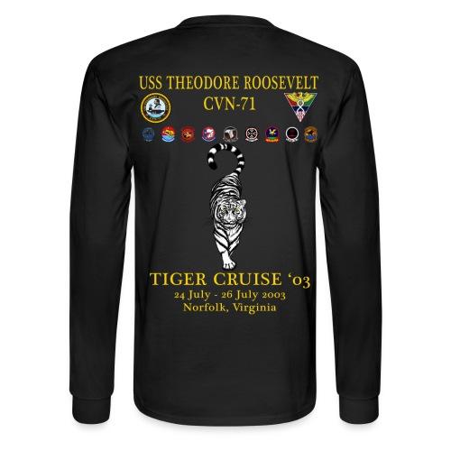 USS THEODORE ROOSEVELT 2003 TIGER CRUISE SHIRT - LONG SLEEVE - TIGER - Men's Long Sleeve T-Shirt