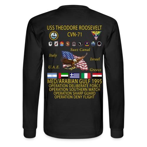 USS THEODORE ROOSEVELT 1995 CRUISE SHIRT - LONG SLEEVE - Men's Long Sleeve T-Shirt