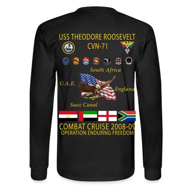 USS THEODORE ROOSEVELT 2008-09 CRUISE SHIRT - LONG SLEEVE