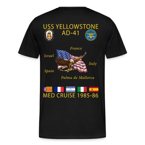 USS YELLOWSTONE 1985-86 MED CRUISE SHIRT - Men's Premium T-Shirt