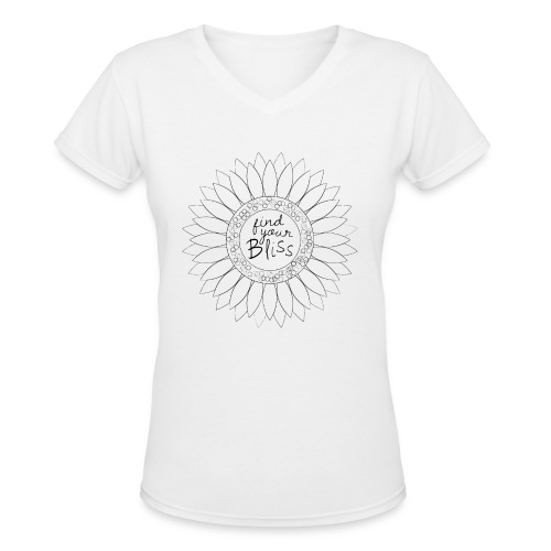 Find Your Bliss - tshirt - Women's V-Neck T-Shirt