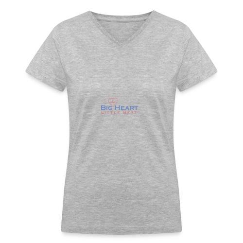 Big Heart Little Beat V Neck - Women's V-Neck T-Shirt